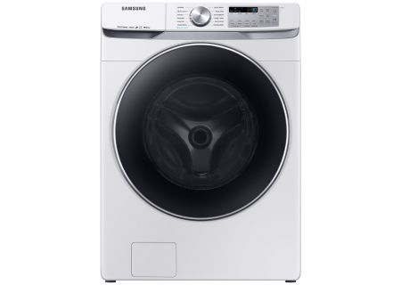 Samsung White Front Load Steam Washer - WF45R6300AW