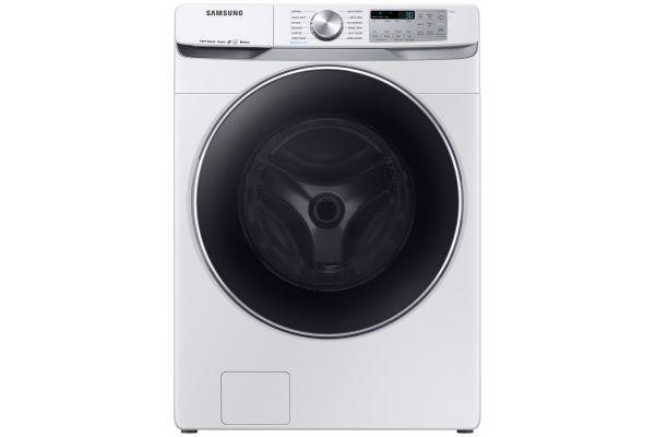 Samsung White Front Load Steam Washer - WF45R6300AW