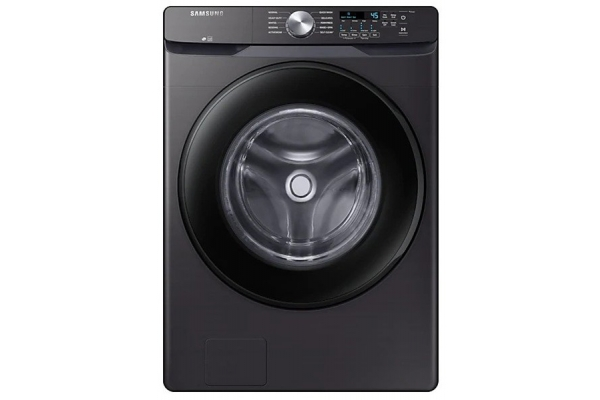 Large image of Samsung 4.5 Cu. Ft. Black Stainless Steel Front Load Washer - WF45T6000AV/A5