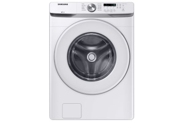 Large image of Samsung 4.5 Cu. Ft. White Front Load Washer - WF45T6000AW/A5
