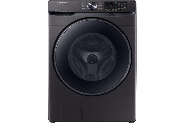 Samsung 5.0 Cu. Ft. Fingerprint Resistant Black Stainless Steel Front Load Steam Washer - WF50R8500AV