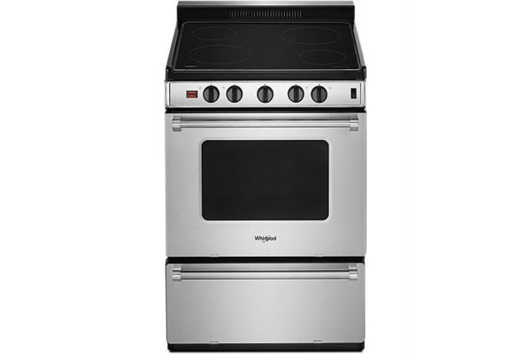 """Large image of Whirlpool 24"""" Stainless Steel Freestanding Electric Range - WFE500M4HSS"""