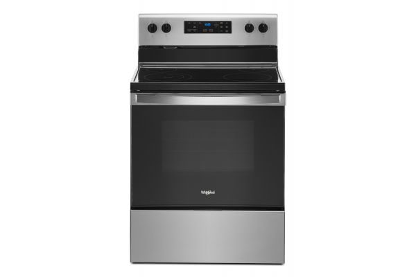 "Large image of Whirlpool 30"" Stainless Steel Freestanding Electric Range - WFE515S0JS"
