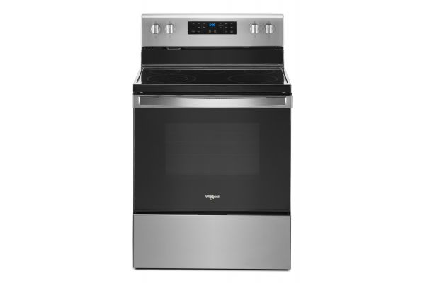 """Large image of Whirlpool 30"""" Stainless Steel Freestanding Electric Range - WFE525S0JS"""
