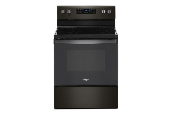 """Large image of Whirlpool 30"""" Black Stainless Freestanding Electric Range - WFE535S0JV"""