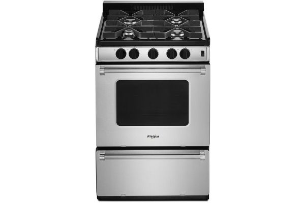 """Large image of Whirlpool 24"""" Stainless Steel Freestanding Gas Range With Sealed Burners - WFG500M4HS"""