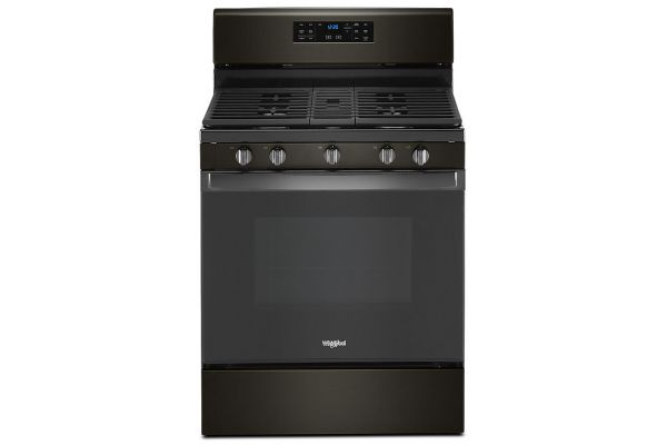Large image of Whirlpool 5.0 Cu. Ft. Black Stainless Gas Convection Oven - WFG535S0JV