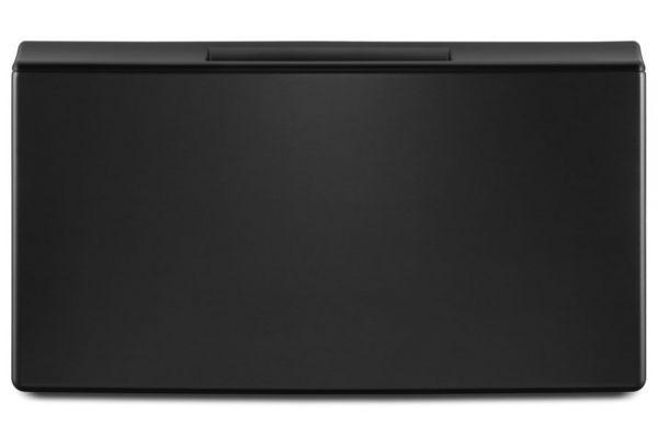 "Large image of Whirlpool 27"" Black Shadow Front Load Washer Or Dryer Pedestal - WFP2715HBK"