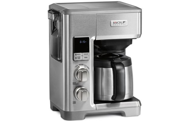 Wolf Gourmet Automatic Drip Coffeemaker With Brushed Stainless Knobs - WGCM120S