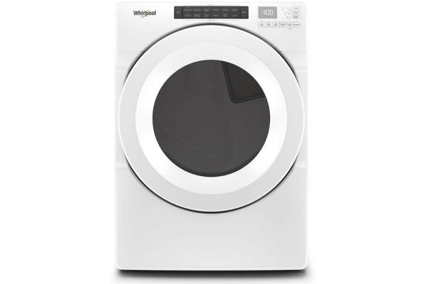 Large image of Whirlpool 7.4 Cu. Ft. White Front-Load Gas Dryer With Intuitive Touch Controls - WGD5620HW
