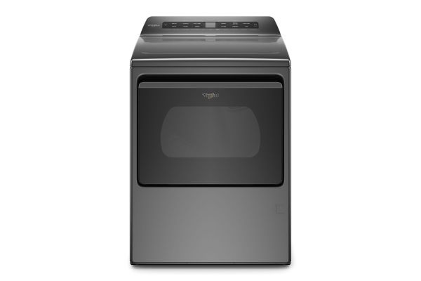 Large image of Whirlpool 7.4 Cu. Ft. Chrome Shadow Smart Gas Dryer - WGD6120HC