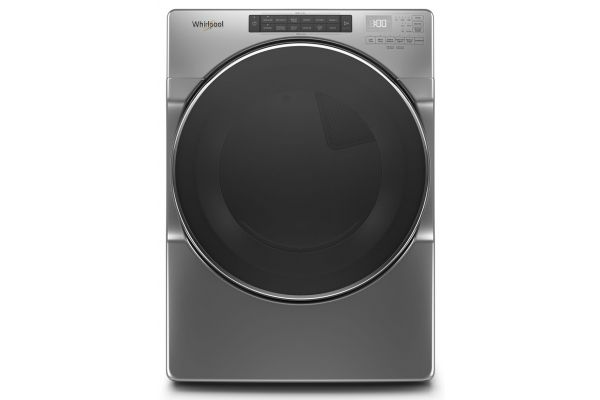 Large image of Whirlpool 7.4 Cu. Ft. Chrome Shadow Front Load Gas Dryer With Steam Cycles - WGD6620HC