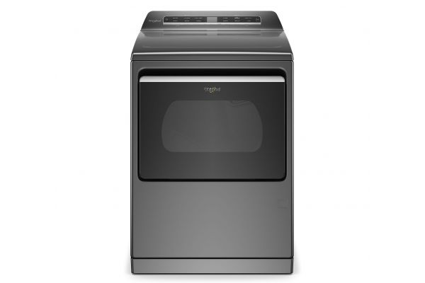 Large image of Whirlpool 7.4 Cu. Ft. Chrome Shadow Smart Capable Gas Dryer - WGD7120HC