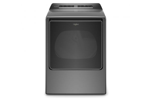 Large image of Whirlpool 8.8 Cu. Ft. Chrome Shadow Smart Capable Gas Dryer - WGD8120HC