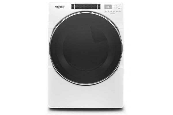 Large image of Whirlpool 7.4 Cu. Ft. White Gas Dryer - WGD8620HW