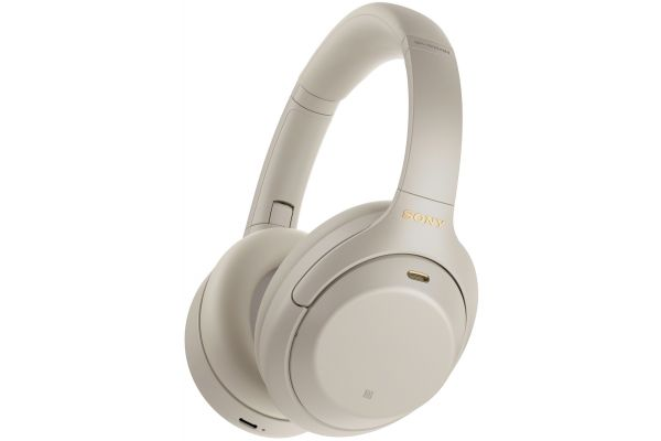 Large image of Sony Silver Wireless Noise Canceling Over-Ear Headphones - WH1000XM4/S