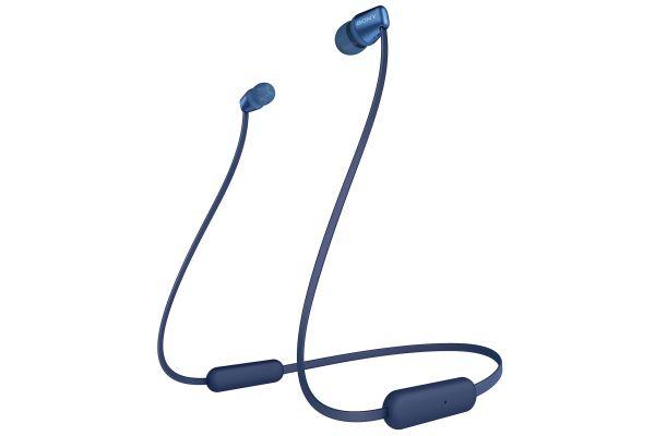 Large image of Sony Blue In-Ear Wireless Headphones - WIC310/L