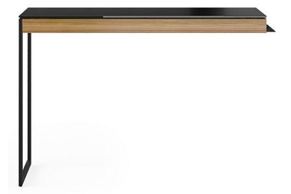 Large image of BDI Sequel 20 6112 Natural Walnut And Black Desk Return - 6112 WL/B