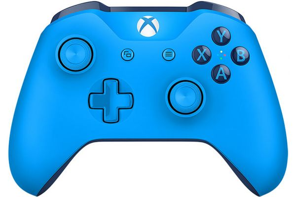 Large image of Microsoft Xbox One Blue Wireless Controller - WL300018