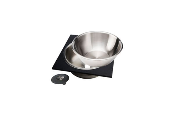 Large image of The Galley Dual-Tier Graphite Wash & Serve Basin - WM-17-D-GT