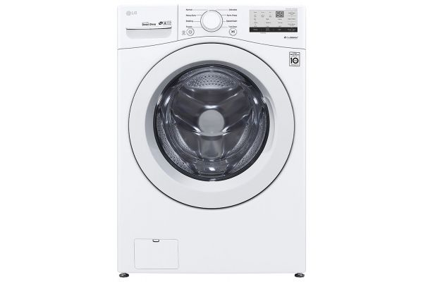 Large image of LG 4.5 Cu. Ft. White Ultra Large Front Load Washer - WM3400CW