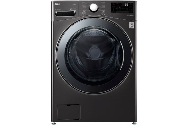 Large image of LG 4.5 Cu. Ft. Black Steel Front Load Washer & Dryer Combo - WM3998HBA