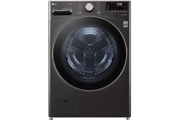 Large image of LG 4.5 Cu. Ft. Black Steel Smart Wi-Fi Enabled Front Load Washer With TurboWash 360 And Built-In Intelligence - WM4000HBA