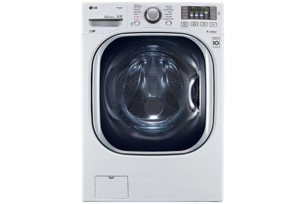 LG White Front Load Steam Washer - WM4370HWA
