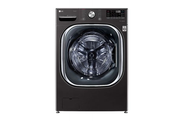 Large image of LG 5 Cu. Ft. Black Steel Smart Wi-Fi Enabled Front Load Washer With TurboWash 360 & Built-In Intelligence - WM4500HBA
