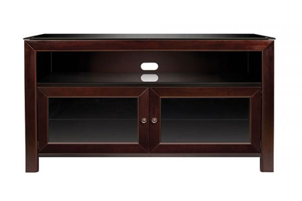 Large image of Bell'O No Tools Assembly Deep Mahogany Finish A/V Cabinet - WMFC503 - WMFC503