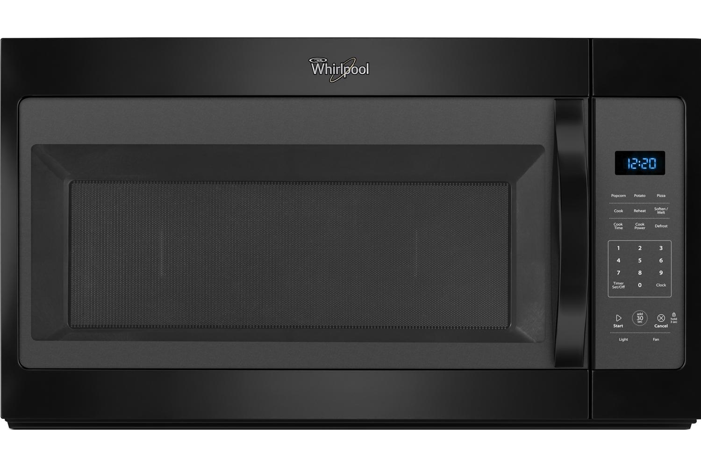 Whirlpool white ice otr microwave - Whirlpool Black Over The Range Microwave Hood Combination Wmh31017fb
