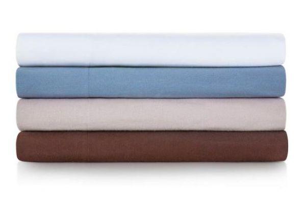 Large image of Malouf Woven Oatmeal King Portuguese Flannel Pillowcases - WO20KKOAFC