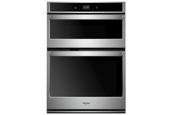 Large image of Whirlpool 6.4 Cu. Ft. Stainless Steel Smart Combination Wall Oven - WOC54EC0HS