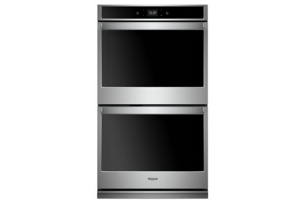 "Large image of Whirlpool 30"" Stainless Steel Smart Double Electric Wall Oven - WOD51EC0HS"