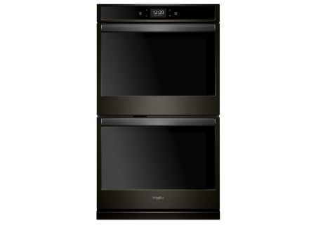 Whirlpool 10 Cu. Ft. Black Stainless Steel Smart Electric Double Wall Oven - WOD77EC0HV