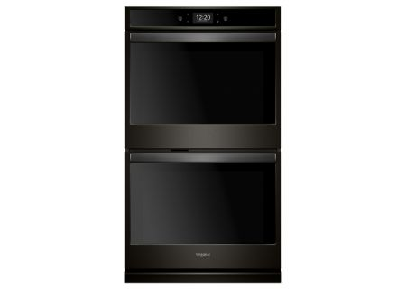 Whirlpool 8.6 Cu. Ft. Black Stainless Steel Smart Electric Double Wall Oven - WOD77EC7HV