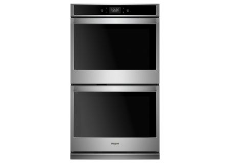 Whirlpool 8.6 Cu. Ft. Stainless Steel Smart Electric Double Wall Oven - WOD77EC7HS