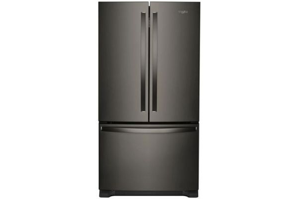 Large image of Whirlpool Black Stainless Steel 22 Cu. Ft. French Door Refrigerator - WRF532SMHV