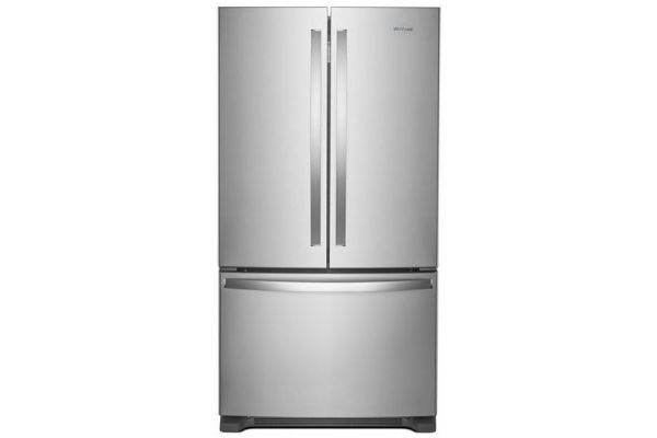 Large image of Whirlpool Fingerprint Resistant Stainless Steel 22 Cu. Ft. French Door Refrigerator - WRF532SMHZ