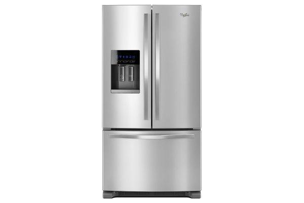 "Large image of Whirlpool 36"" Fingerprint Resistant Stainless Steel French Door Refrigerator - WRF555SDFZ"