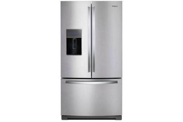 "Large image of Whirlpool 36"" Fingerprint Resistant Stainless Steel French Door Refrigerator - WRF757SDHZ"