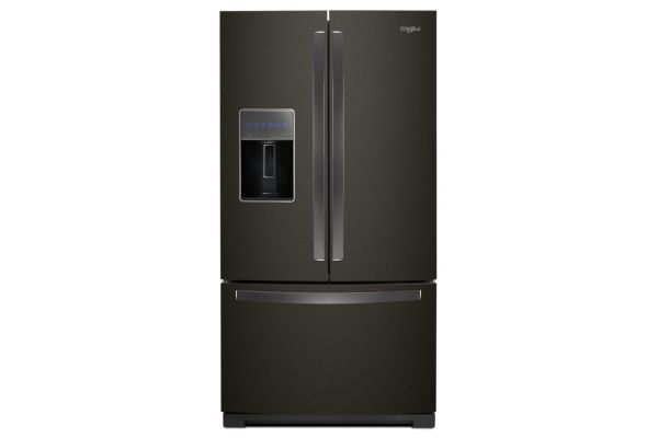 "Large image of Whirlpool 36"" Fingerprint Resistant Black Stainless Steel French Door Refrigerator - WRF767SDHV"
