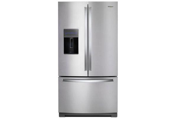 "Large image of Whirlpool 36"" Fingerprint Resistant Stainless Steel French Door Refrigerator - WRF767SDHZ"