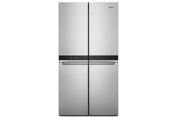 """Large image of Whirlpool 36"""" Fingerprint Resistant Metallic Steel Counter-Depth 4 Door Refrigerator - WRQA59CNKZ"""
