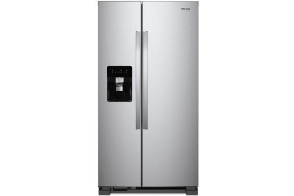 """Large image of Whirlpool 36"""" Monochromatic Stainless Steel Side-By-Side Refrigerator - WRS315SDHM"""