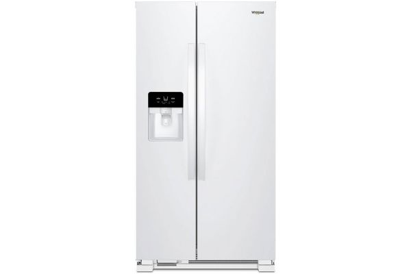 """Large image of Whirlpool 33"""" White Side-By-Side Refrigerator - WRS321SDHW"""