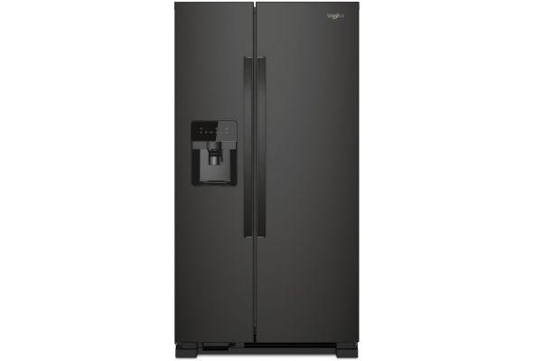 "Whirlpool ADA 33"" Black Side-By-Side Refrigerator - WRS331SDHB"