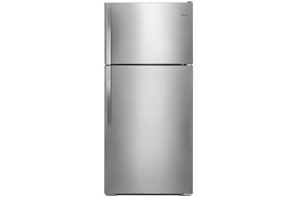 "Large image of Whirlpool 28"" Monochromatic Stainless Steel Top Freezer Refrigerator - WRT134TFDM"
