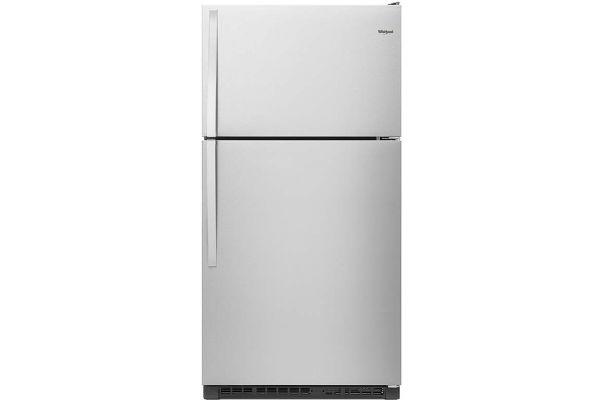 "Large image of Whirlpool 33"" Fingerprint Resistant Stainless Steel Top-Freezer Refrigerator - WRT311FZDZ"