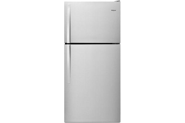 "Large image of Whirlpool 30"" Monochromatic Stainless Steel Top-Freezer Refrigerator - WRT318FZDM"